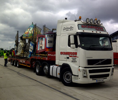 truck carrying Blackpool illuminations